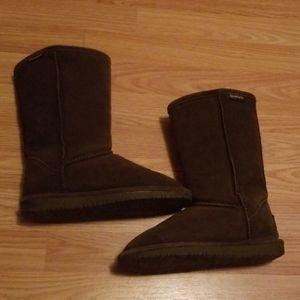 BearPaw suede/wool boots